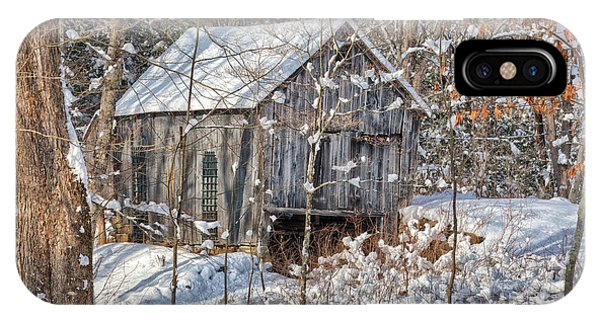 New England Barn iPhone Case - New England Winter Woods by Bill Wakeley