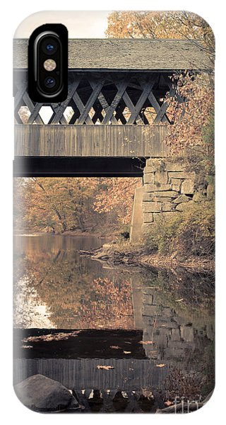 Scenic New England iPhone Case - New Hampshire Covered Bridge Autumn by Edward Fielding