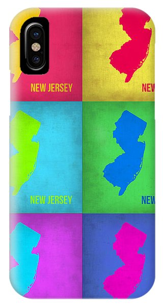 New Jersey iPhone Case - New Jersey Pop Art Map 1 by Naxart Studio