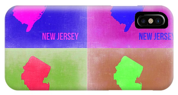 New Jersey iPhone Case - New Jersey Pop Art Map 2 by Naxart Studio