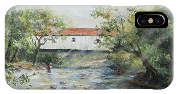New Jersey's Last Covered Bridge IPhone Case