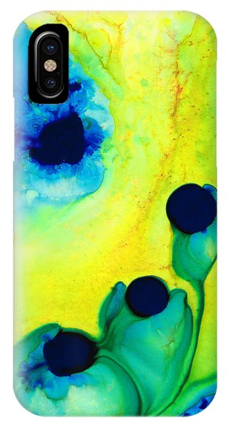 New Life - Green And Blue Art By Sharon Cummings IPhone Case
