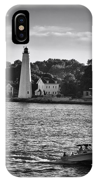 New London Harbor Light IPhone Case