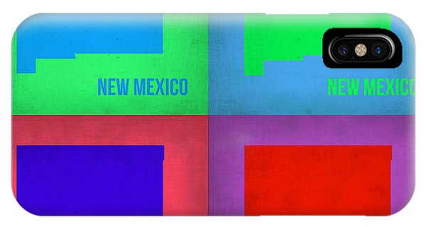 New Mexico iPhone Case - New Mexico Pop Art Map 1 by Naxart Studio
