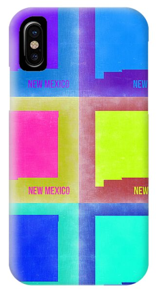 New Mexico iPhone Case - New Mexico Pop Art Map 2 by Naxart Studio
