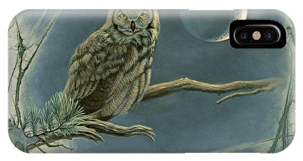 Horn iPhone Case - New Moon   by Paul Krapf
