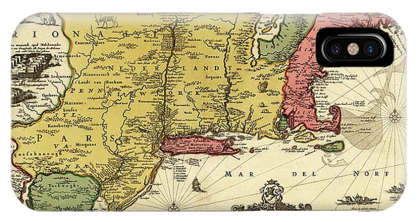 New England Coast iPhone Case - New Netherland by Library Of Congress, Geography And Map Division/science Photo Library