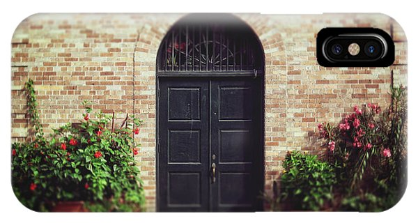 New Orleans Courtyard Door IPhone Case