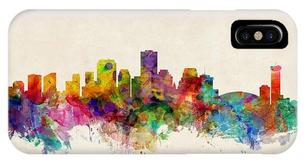 United States iPhone Case - New Orleans Louisiana Skyline by Michael Tompsett