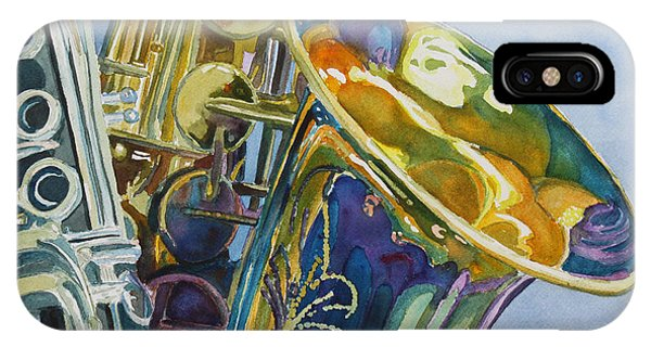 Saxophone iPhone Case - New Orleans Reeds by Jenny Armitage