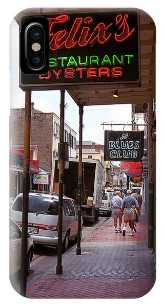 Oyster Bar iPhone Case - New Orleans Restaurant by Frank Romeo