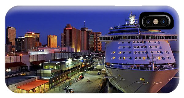 New Orleans Skyline With The Voyager Of The Seas IPhone Case