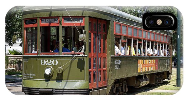 Psi iPhone Case - New Orleans Streetcar by Photostock-israel
