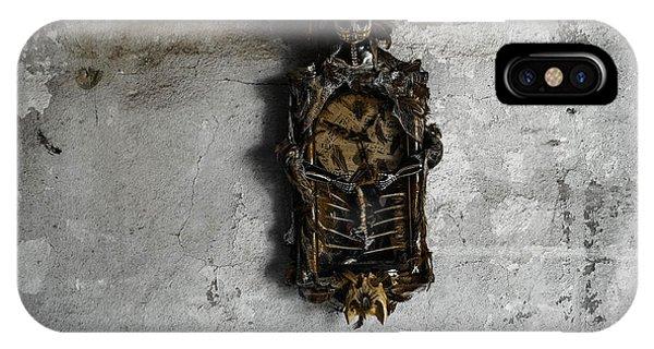 New Orleans Voodoo Bone Clock IPhone Case