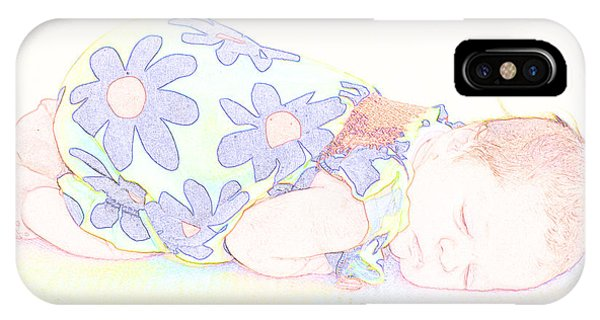 New Photographic Art Print For Sale Baby Girl IPhone Case