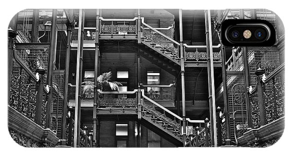 New Photographic Art Print For Sale Bradbury Building Downtown La IPhone Case