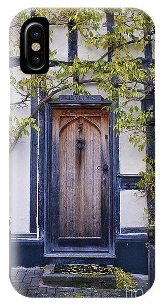 New Photographic Art Print For Sale Doorway 2 In Medieval Lavenham IPhone Case