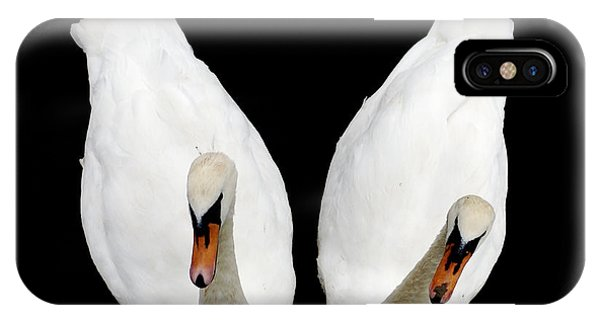 Swans In Love IPhone Case