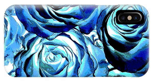 Pop Art Blue Roses IPhone Case