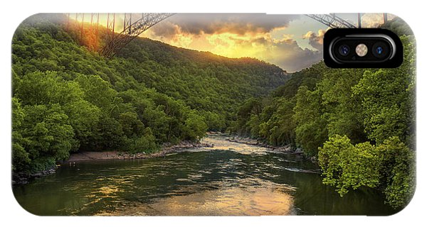 New River Evening Glow IPhone Case