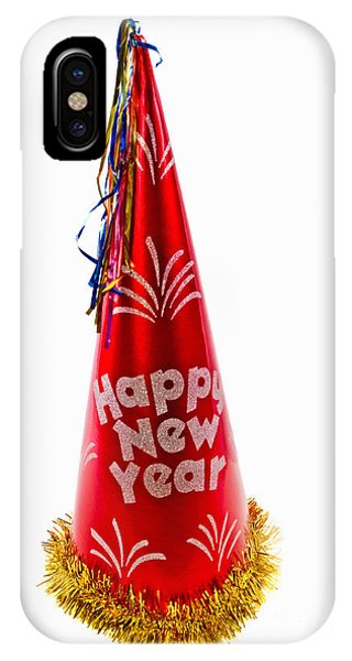 Happy New Year Party Hat IPhone Case