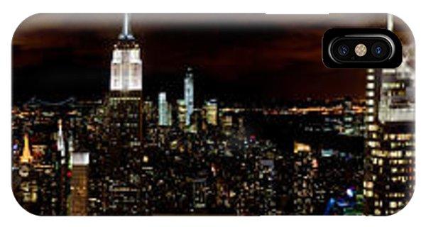 New York At Night Panorama IPhone Case