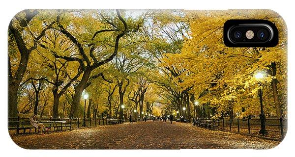 New York City - Autumn - Central Park - Literary Walk IPhone Case