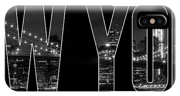 New York iPhone Case - New York City Brooklyn Bridge Bw by Melanie Viola