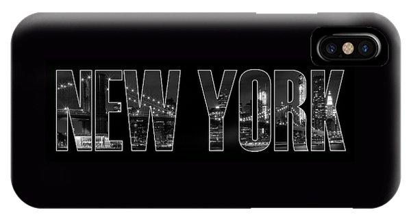 New York City iPhone Case - New York City Brooklyn Bridge Bw by Melanie Viola