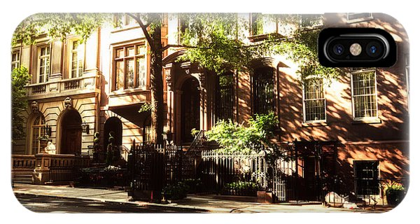 Brownstone iPhone Case - New York City Brownstones In The Sun by Vivienne Gucwa