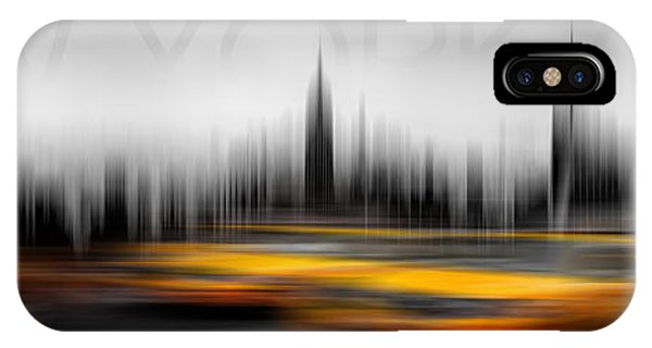 New York City Taxi iPhone Case - New York City Cabs Abstract by Az Jackson