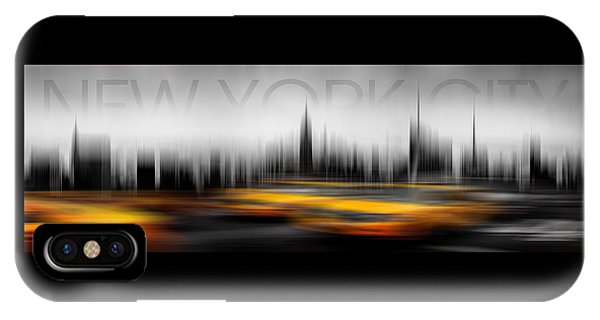 Shape iPhone Case - New York City Cabs Abstract by Az Jackson