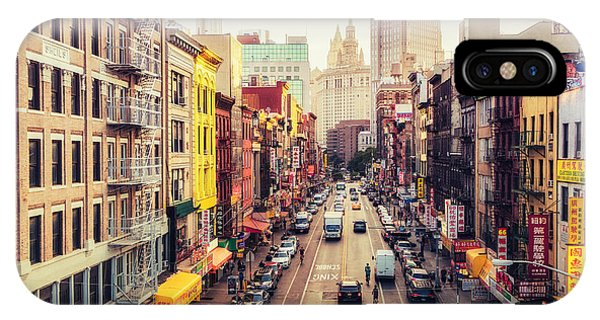 New York City - Chinatown Street IPhone Case