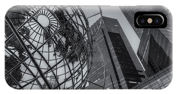 New York City Columbus Circle Landmarks II IPhone Case