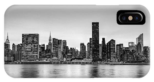 New York City Dusk Colors Bw IPhone Case
