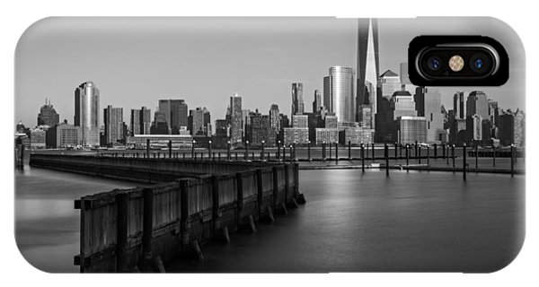 New York City Financial District Bw IPhone Case