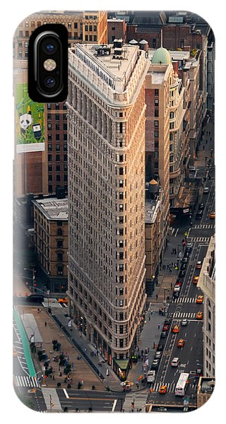 New York City Flatiron Building Aerial View In Manhattan IPhone Case
