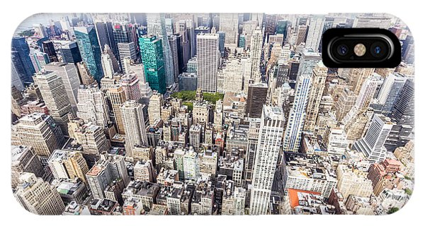 New York City From The Empire State Building IPhone Case