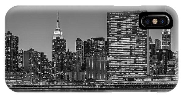 New York City Landmarks Bw IPhone Case