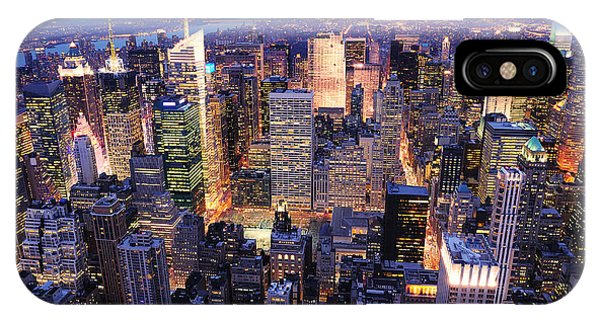 New York City Manhattan Times Square Night IPhone Case