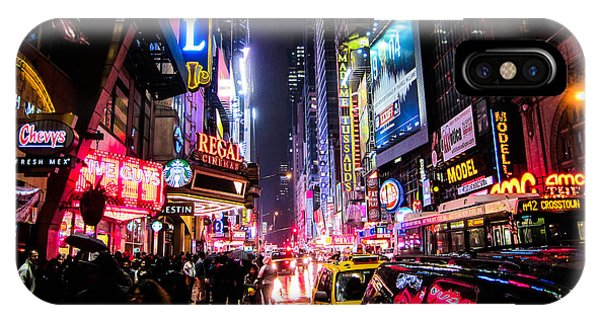 Times Square iPhone Case - New York City Night by Nicklas Gustafsson
