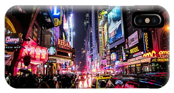 Night iPhone Case - New York City Night by Nicklas Gustafsson