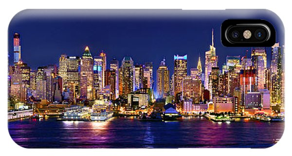 Times Square iPhone Case - New York City Nyc Midtown Manhattan At Night by Jon Holiday
