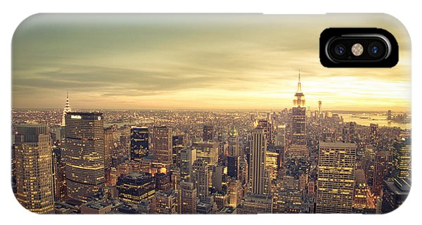 City Sunset iPhone Case - New York City - Skyline At Sunset by Vivienne Gucwa