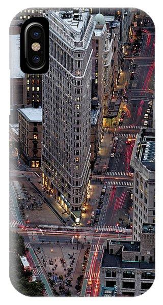 New York City Skyline Flatiron Building IPhone Case