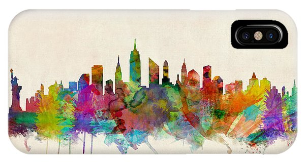 United States iPhone Case - New York City Skyline by Michael Tompsett