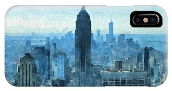 New York City Skyline Summer Day IPhone Case