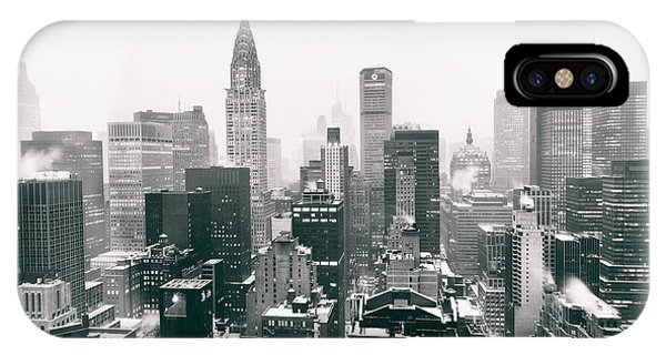 Winter iPhone Case - New York City - Snow-covered Skyline by Vivienne Gucwa