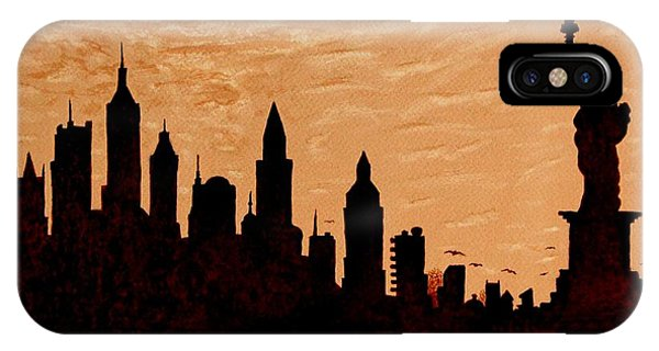 New York City Sunset Silhouette IPhone Case