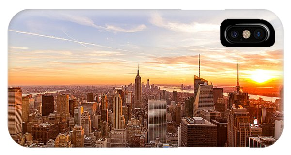 City Sunset iPhone Case - New York City - Sunset Skyline by Vivienne Gucwa